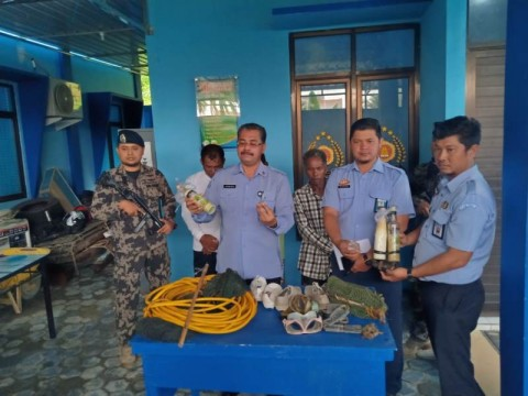 Polres Tarakan Tangkap Tiga Nelayan Pembawa Bom Ikan