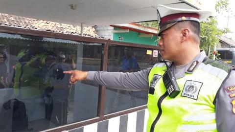 Kerusakan Pos Polisi Siluwok Pascapenembakan Hanya pada Kaca