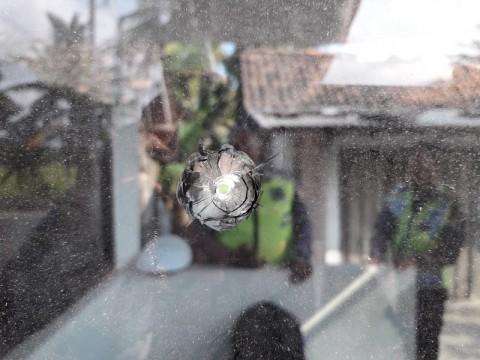 Peluru Gotri Ditemukan di Pos Polisi Siluwok