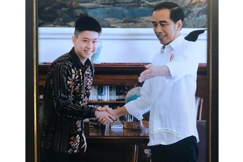 Presiden Jokowi Bertemu dengan Rich Brian