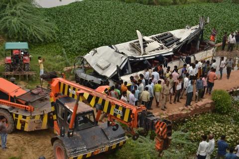 Kecelakaan Bus di India Tewaskan 29 Orang