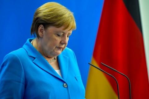 Kanselir Jerman Kejang Lagi di Muka Umum