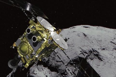 Pesawat Luar Angkasa Mendarat di Asteroid