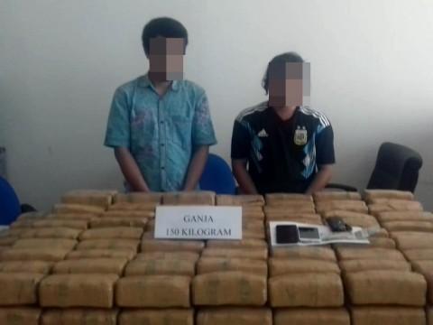 Dua Pembawa 150 Kg Ganja Dibekuk di Banten