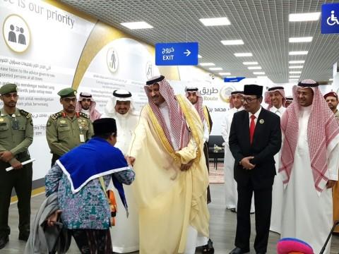 Jemaah Haji Indonesia Disambut Pangeran Arab Saudi