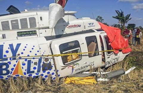 KNKT Investigasi Helikopter Jatuh di Lombok