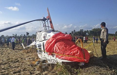 Tangki Bahan Bakar Helikopter Jatuh di Lombok Tengah Kosong