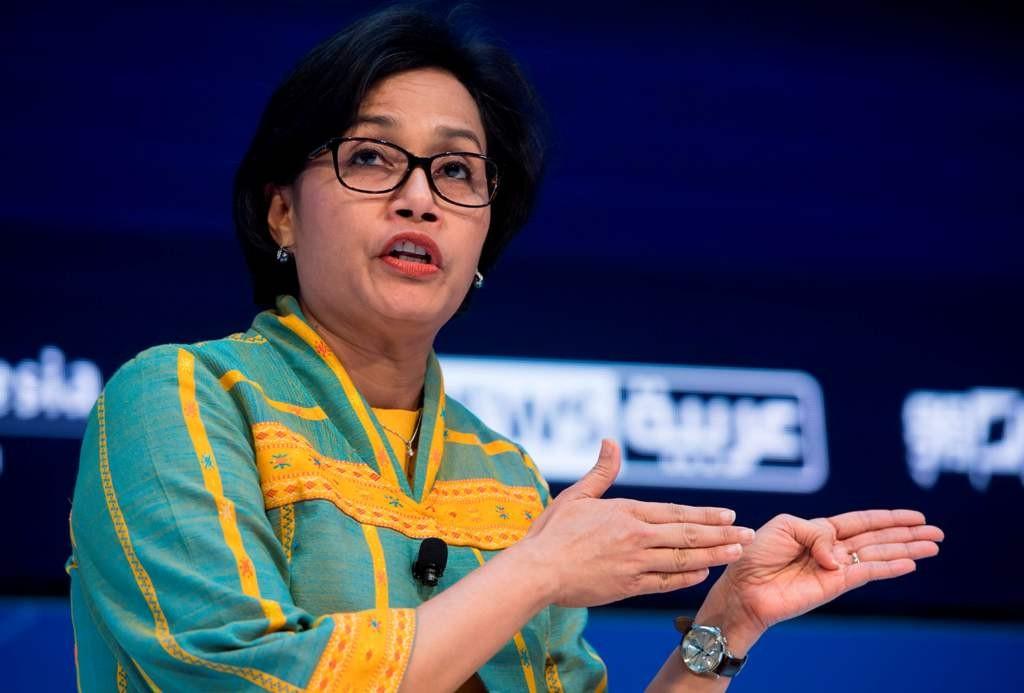 Menteri Keuangan Sri Mulyani Indrawati (AFP PHOTO/SAUL LOEB)