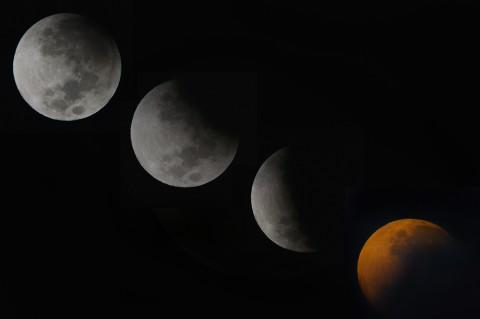 Momen Gerhana Bulan di Sejumlah Daerah di Indonesia