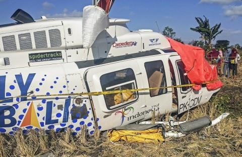 Helikopter yang Jatuh di Lombok Laik Terbang