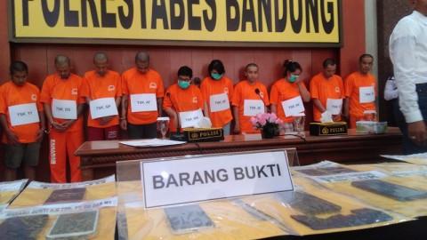 36 Orang Terlibat Penyalahgunaan Narkoba di Bandung Ditangkap