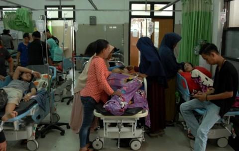 Puluhan Siswa SDN Kramat Pela 09 Pagi Keracunan Makanan