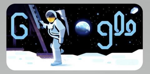 Google Doodle Hari Ini Rayakan Pendaratan Manusia di Bulan
