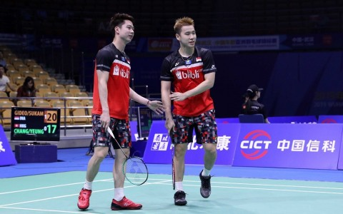 Jadwal Final Indonesia Open 2019: Marcus/Kevin Tantang Ahsan/Hendra