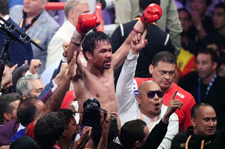 Pacman Rebut Sabuk Juara Kelas Welter WBA