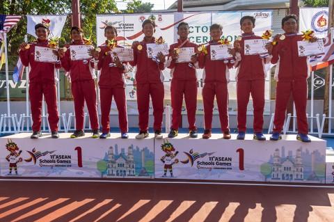 Tenis Beregu Putra-Putri Indonesia Rebut Emas ASG XI