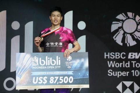 Chou Tien Chen Kerja Keras Taklukkan Anders Antonsen di Final Indonesia Open 2019