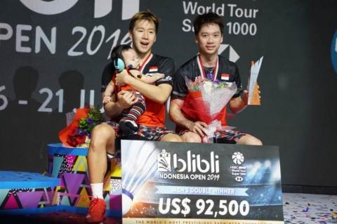 Marcus/Kevin Pertahankan Gelar Indonesia Open dalam 28 Menit