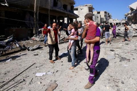 Pasar di Suriah Dihantam Serangan Udara, 19 Orang Tewas