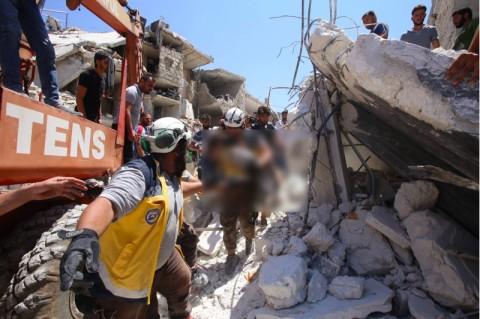 Rusia Bantah Bombardir Pasar Suriah dari Udara