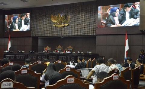 Saksi Perindo Berikan Keterangan via Telekonferensi