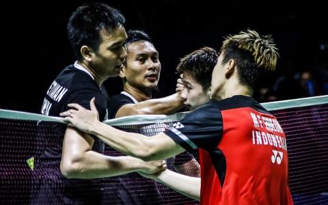 Japan Open 2019: Ahsan/Hendra dan Marcus/Kevin Belum Terbendung