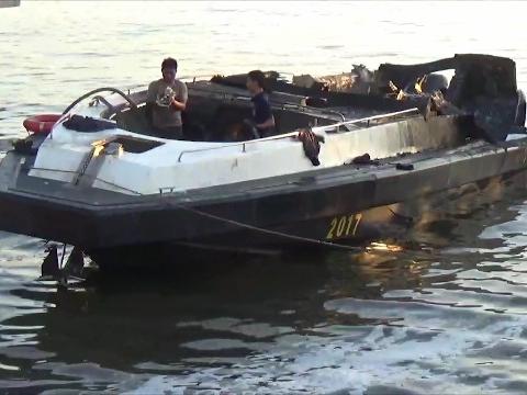 Korban Kapal Patroli Polairud Sulsel Terbakar Dioperasi