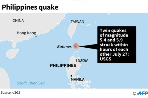 Gempa Kembar Landa Filipina, Delapan Orang Tewas