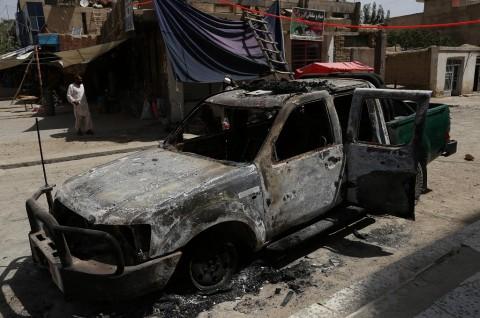 Empat Polisi Afghanistan Tewas Terkena Bom Taliban