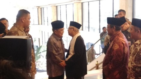 Jusuf Kalla dan Ma'ruf Amin Hadiri Milad MUI