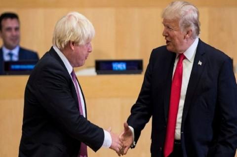 Trump-Johnson Bahas Rencana Perdagangan Pascabrexit