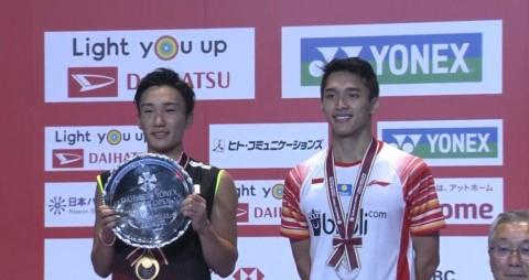 Japan Open 2019: Kento Taklukkan Jojo di Final