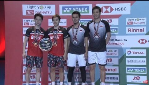 Japan Open 2019: Marcus/Kevin Kandaskan Perlawanan Ahsan/Hendra di Final