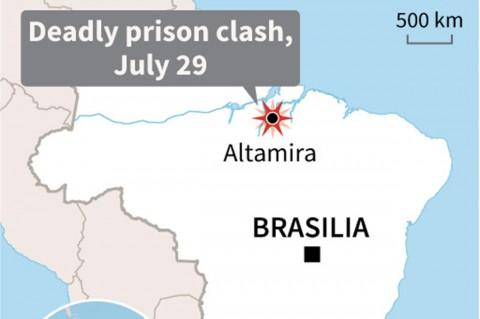 Kerusuhan di Penjara Brasil Tewaskan 57 Narapidana