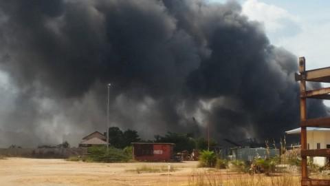 Kapal Roro KMP Sembilang Terbakar