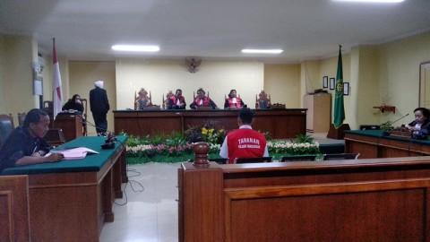 Pembunuh Siswa Penerbangan di Makassar Dituntut 10 Tahun Penjara