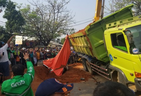 Korban Kecelakaan Truk Tanah Dapat Dana Santunan