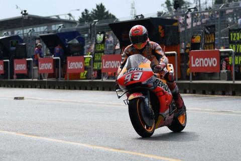 Kondisi Trek Buruk, Marquez jadi yang Tercepat di FP3 MotoGP Ceko