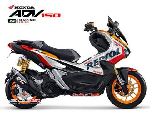 Gaya Honda ADV150 dengan Livery Tim MotoGP