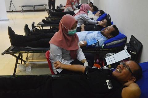 Antusias Karyawan Media Group Ikuti Aksi Donor Darah