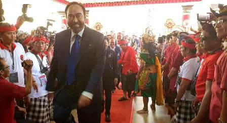 Surya Paloh, Airlangga Attend PDI Perjuangan Congress in Bali