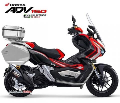 Gaya Touring Offroad Honda ADV150 dari Rekayasa Digital