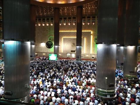 Antusiasme Perayaan Iduladha di Istiqlal Masih Tinggi