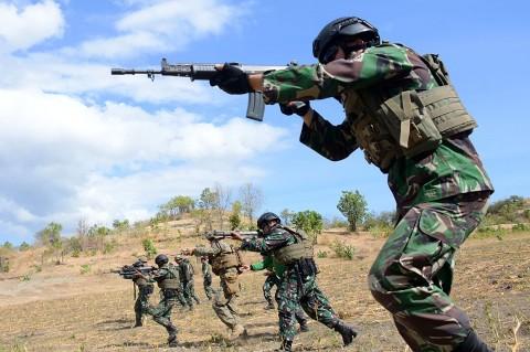 Marinir Indonesia-AS Latihan Tembak Tempur
