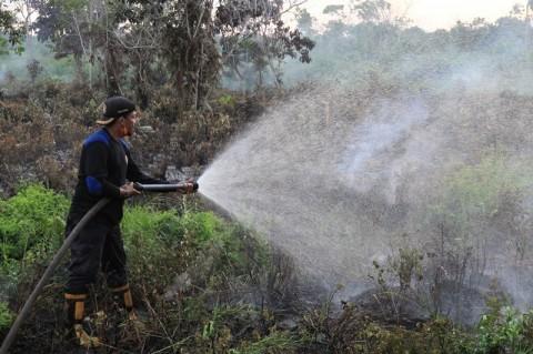 Polda Kalsel Kerahkan Mobil Patroli untuk Tanggulangi Karhutla