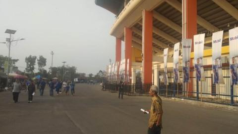 Persib vs Borneo, Stadion Jalak Harupat Sepi Penonton