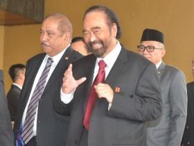 Surya Paloh Belum Diajak Jokowi Bahas Menteri