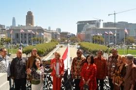 Merah Putih Berkibar Tiga Hari di Balai Kota San Francisco