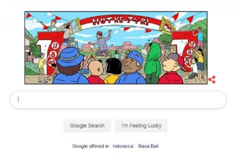 Google Turut Rayakan HUT ke-74 RI via Doodle