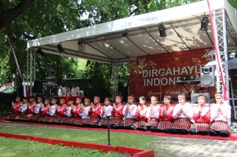 WNI dan Diaspora Padati KBRI Budapest Rayakan HUT RI